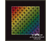Rainbow Mandala 1 Cross Stitch Pattern PDF Geometric Abstraction Modern cross stitch Pillow Antique Pattern Ornament Cross Stitch