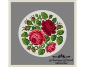 Vintage Roses Flowers Cross Stitch Pattern PDF Berlin Woolwork Pattern Antique Needlepoint Tapestry chart Victorian Flowers
