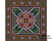 Vintage Square Carpet 19 Cross Stitch Pattern PDF Antique Dollhouse Miniature Rug