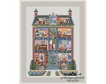 Doll House #1 Cross Stitch Pattern PDF Nature cross stitch