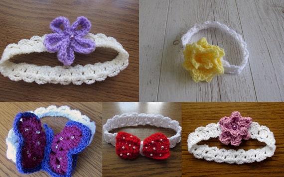 Baby Headbands Crochet Headbands Headbands Pattern Headbands Etsy Best Baby Headband Crochet Pattern