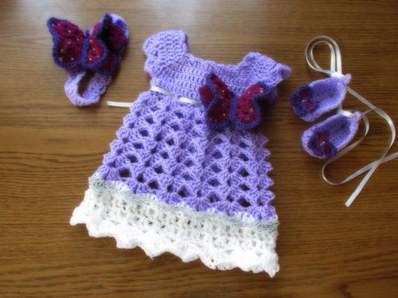 Baby Crochet Pattern Dress Headband Shoes Crochet Pattern Etsy