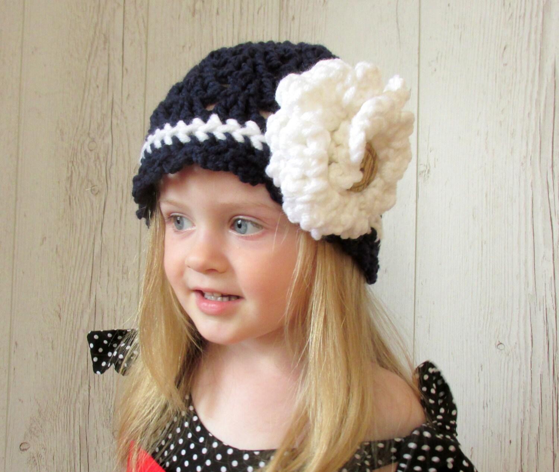 Flower Hat Fall Baby Hat Crochet Hat Pattern Knit Pattern Etsy