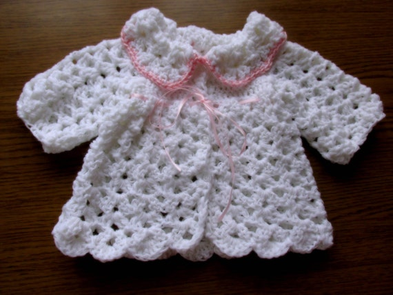 Crochet Baby Cardigan Pattern In 5 Sizes Instant Download Etsy