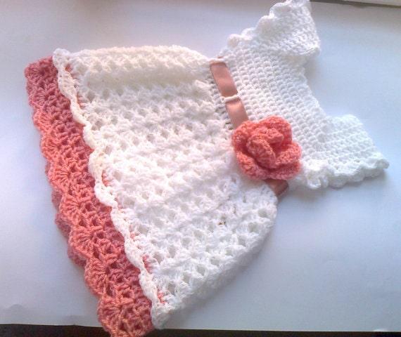 Crochet Pattern Baby Dress Pattern Pdf Flower Baby Dress Etsy Gorgeous Baby Girl Crochet Patterns