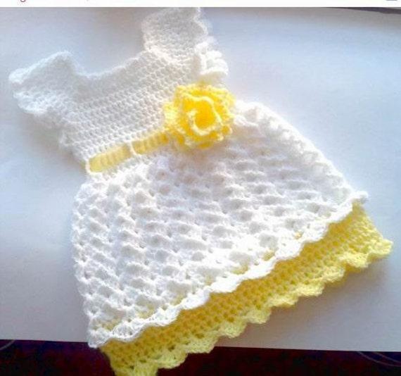 Crochet Baby Dress Pattern 10 Size Newborn 4t Crochet Etsy