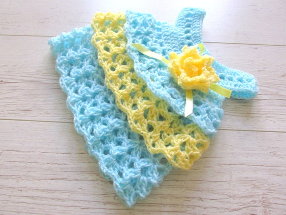 Dress Pattern Crochet Baby Dress Pattern Ruffle Dress Etsy