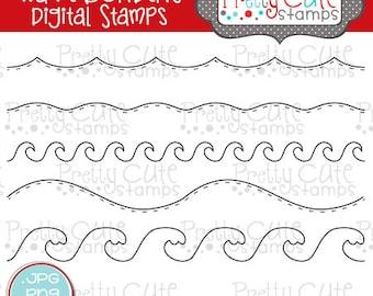 Wave Borders DIGITAL Stamp Set