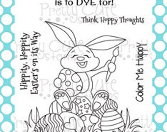 "Hoppy Easter 3x4"" Clear Photopolymer Stamp Set"