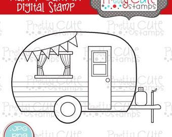 Happy Camper DIGITAL Stamp Set