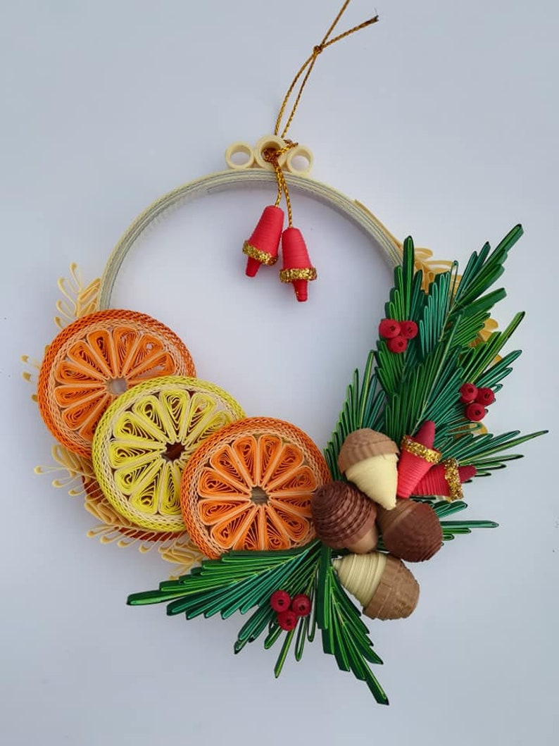 Quilled Christmas Wreath Quilling Tree Ornaments