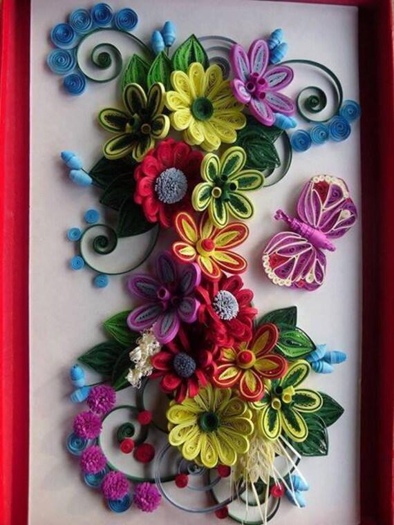 Handmade Quilling Paper Flower Wall Art Etsy