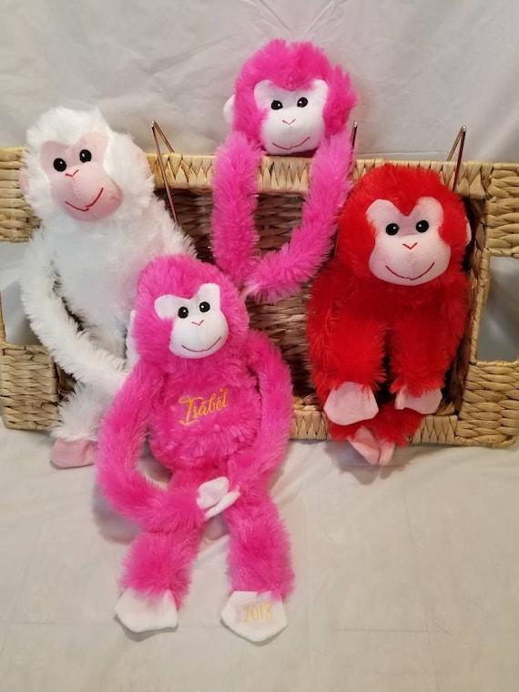 Baby Shower Monkey Personalized Monkey Plush Personalized Etsy