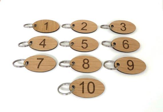 Club keychain Home Oak Veneer School 50 Wooden Numbered Key Fobs Locker Room For Hotel Key Tags