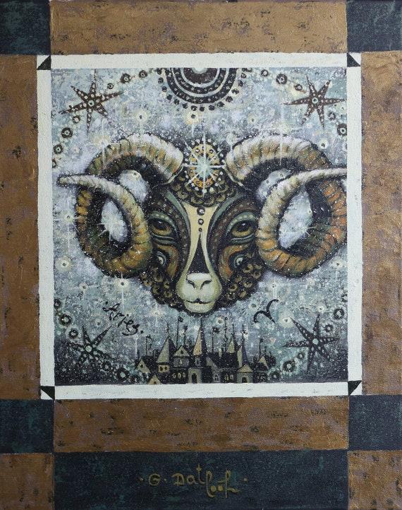 Aries - original acrylic on canvas