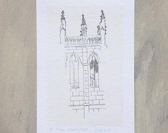 London architecture St Alban Wood Street mini giclee print