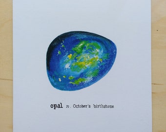 October birthstone birthday card