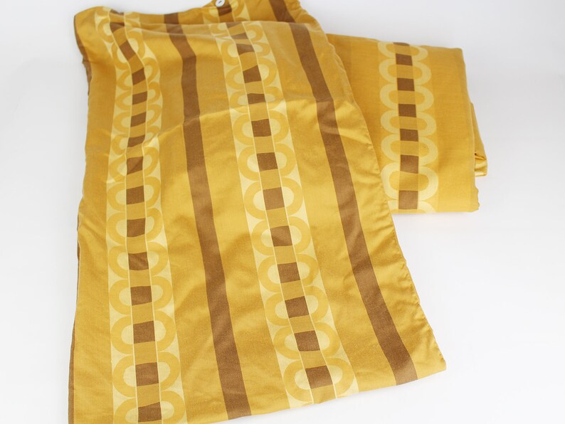 bed linen, Vintage bed linen from the 70s with patterns 1 bed cover and 1 pillowcase