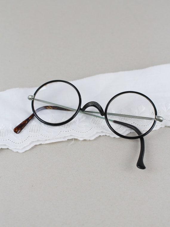d8e8b3144e1 Antique glasses nickel glasses vintage eyeglass frame round