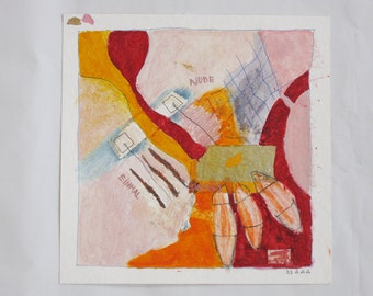 Art / art / collage on paper - original - painting on paper, abstract art