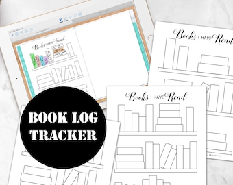 Book Log, Book Tracker Insert, Books to Read or Books I Read Planner Insert Instant Digital Download 00146