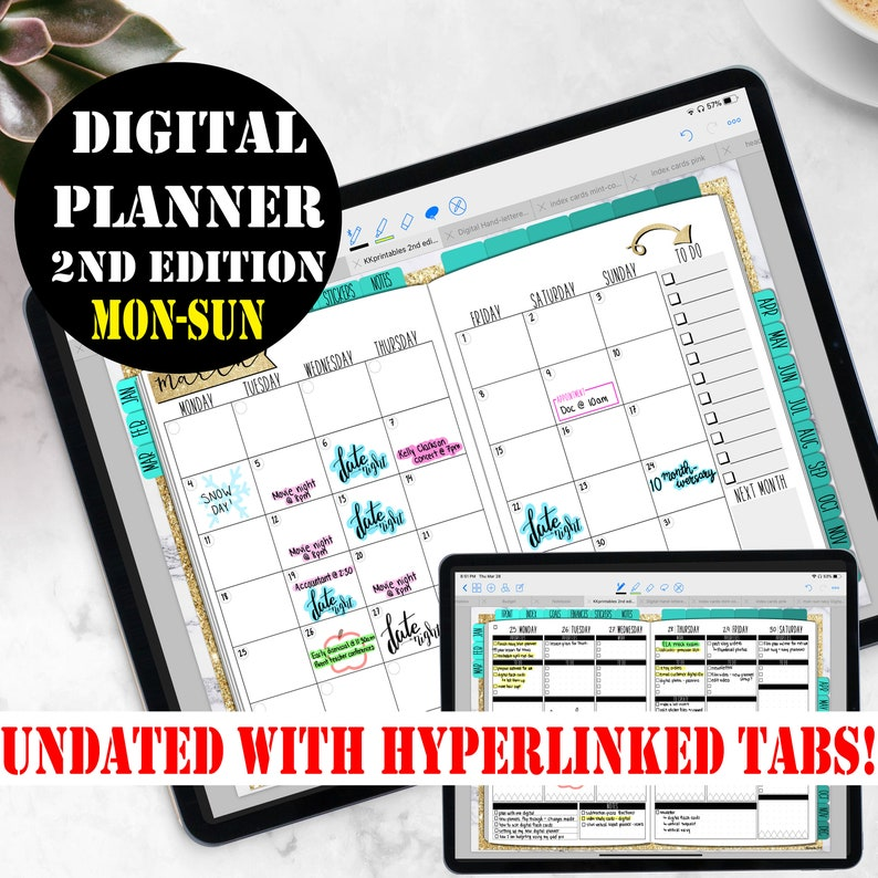 Digital Planner Goodnotes incl Digital Planner Stickers image 0