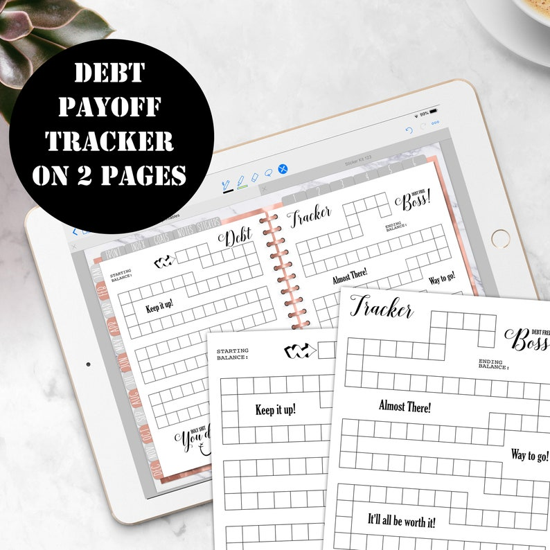picture about Debt Tracker Printable named Financial debt Tracker Printable, Financial debt compensation Tracker Add, Credit card debt Payoff Tracker Coloring Planner Include GoodNotes Immediate Electronic Obtain 00151