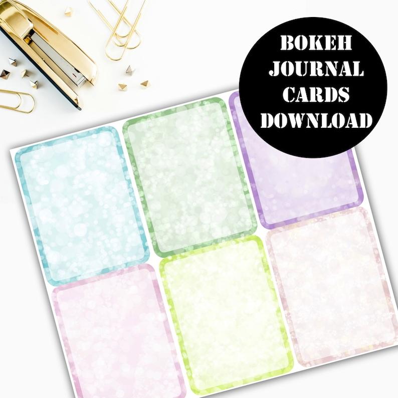 Bokeh Journaling Card Printable / Journal Cards / Scrapbook image 0