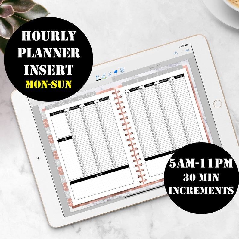 Monday-Sunday Vertical Weekly Planner Printable Digital image 0