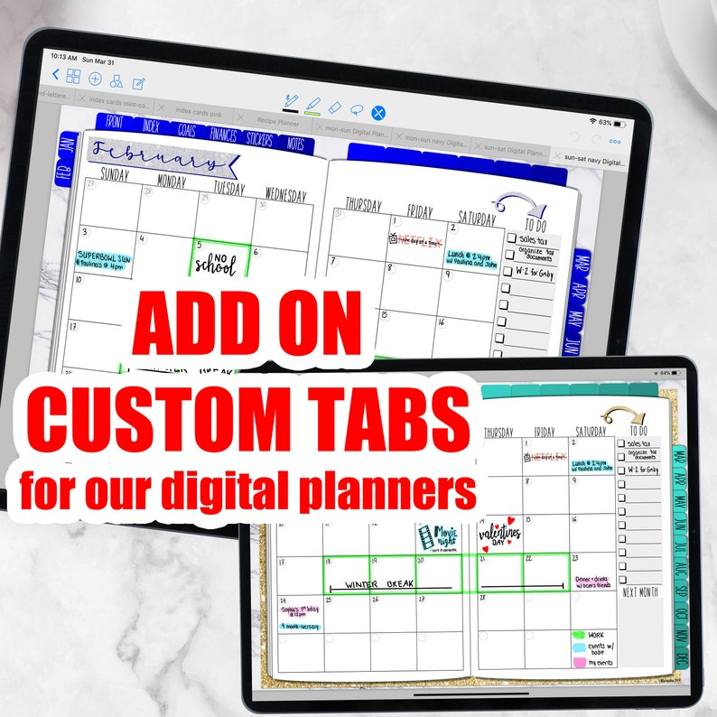 CUSTOM TABS for our Digital Planner Goodnotes Upgrades for image 0