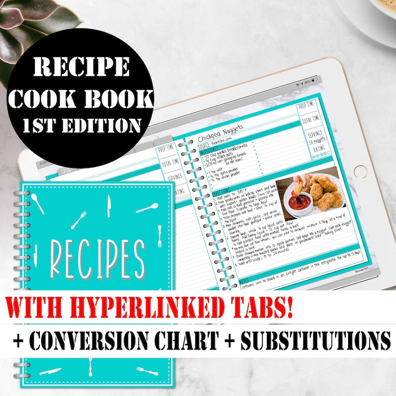 Digital Recipe Book Digital Recipes for Goodnotes Planner on image 0