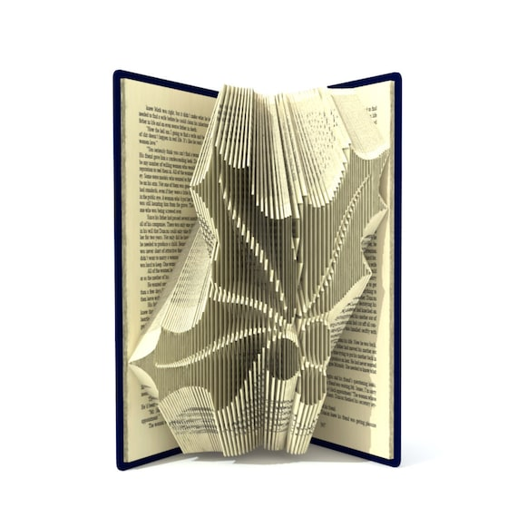 Gingerbread man  Book Folding PATTERN to create your own folded book art