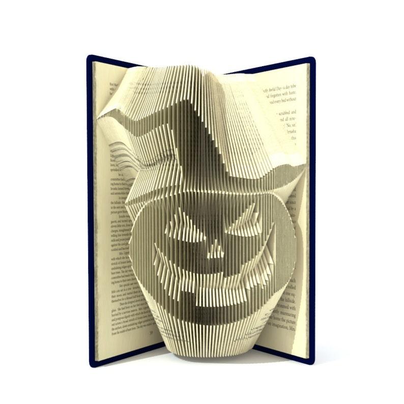 Book folding pattern  HALLOWEEN PUMPKIN  2 different sizes image 0