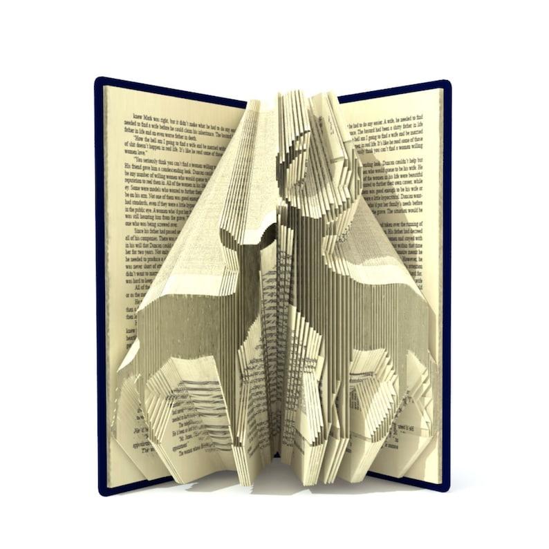 Book folding pattern  PAIR of DEER  256 folds  Tutorial image 0