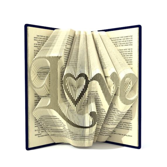 Book Folding PATTERN~to create your own folded book art DA BOMB