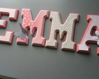 Wooden wall letters personalized wooden letters for nursery