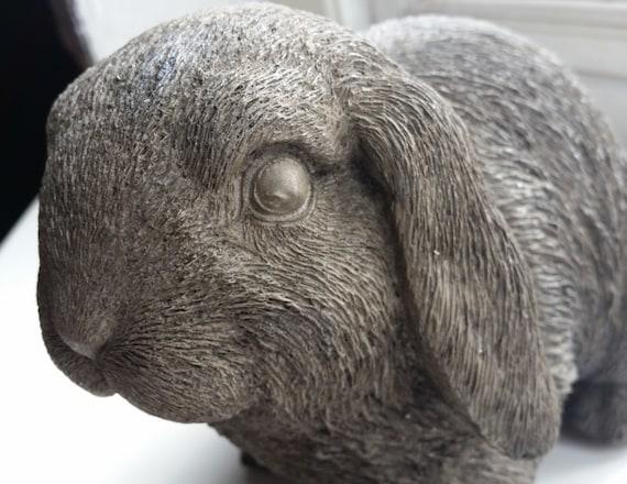 Lop Eared Rabbit Garden Ornament Stone Cast Statue Hand Made