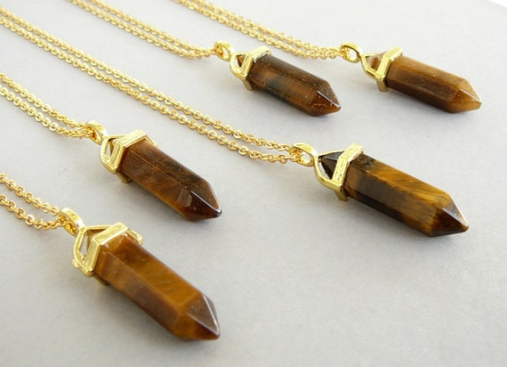 Tigers Eye Crystal Necklace!!
