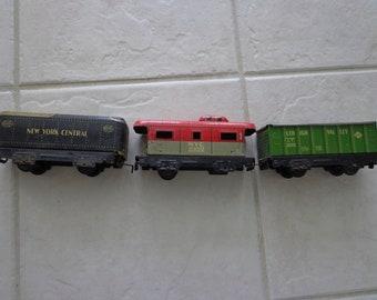 Upcycled Tin Litho Train Locomotive Desk Lamp
