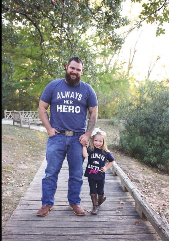 Always Her Hero And Always His Little Girl Daddy And Daughter Etsy