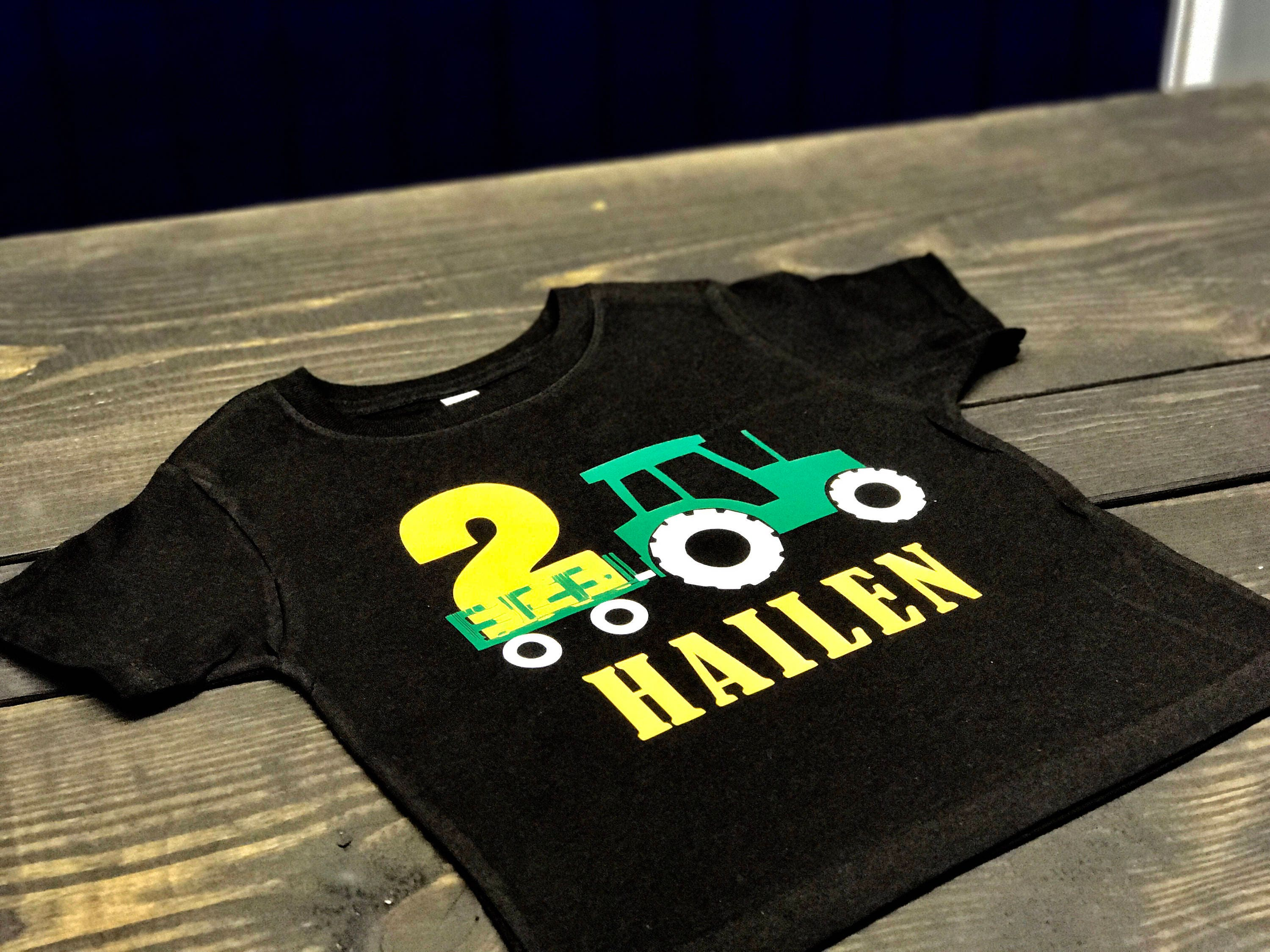 Custom Tractor Birthday Shirt John Deere Birthday Party Etsy