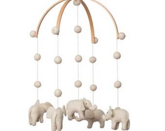 baby mobile - nursery decor- elephant mobile -Jungle - Safari MADE TO ORDER
