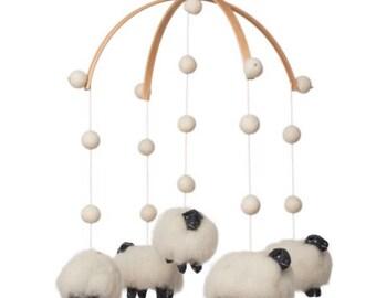 nursery decor - baby mobile - Lamb mobile - Sheep mobile - Scandinavian nursery