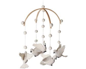 Dove- Bird - Felt - Baby mobile - Baby shower - Nursery decor