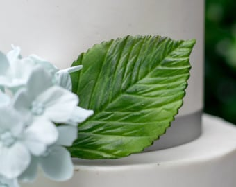 Hydrangea Leaf for Gumpaste and Sugar Flower Cake Toppers
