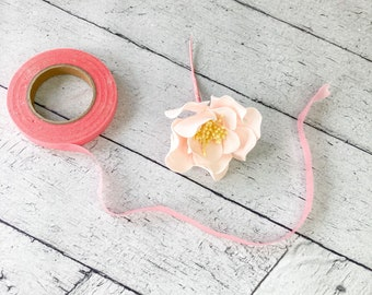 """1/2"""" roll of pink floral tape 30 yds"""
