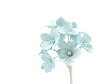 12 Hydrangea Gumpaste Sugar Flowers in Blue for Wedding and Bridal Shower Cake Topper, DIY brides, sugar flower arrangement, filler flower