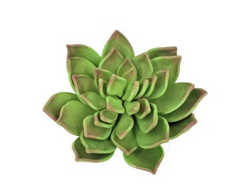 Green and Pink Succulent Sugar Flower READY TO SHIP for wedding cake toppers and gumpaste decorations