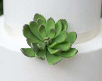 Medium Green and Purple Sugar Succulent for wedding cake toppers, sugar flower arrangements and gumpaste decorations