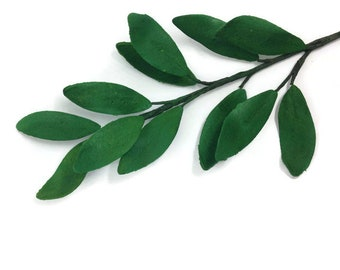 Italian Ruscus Leaves for Sugar Flower Arrangements and Wedding Cake Toppers
